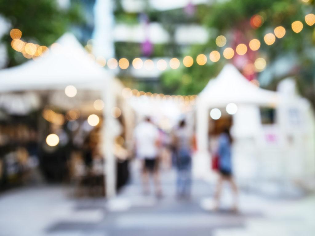 Blur Outdoor Street Market Festival